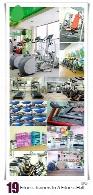 تصاویر با کیفیت باشگاه بدنسازی و وسایل باشگاه، تردمیل، الپتیکال، استپ، توپ و ...Fitness Trainers In A Fitness Hall
