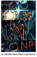 اوپنر آماده لوگو با افکت نور نئون برای افترافکت به همراه آموزش ویدئویی از ویدئوهایوVideohive Neon Power Logo Opener After Effects Templates