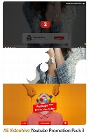 قالب آماده تبلیغاتی محصولات با طرح یوتیوب در افترافکت از ویدئوهایوVideohive Youtube Promotion Pack 3 After Effects Templates