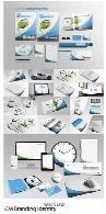 مجموعه تصاویر لایه باز و وکتور ست اداری، کارت ویزیت، سربرگ، بروشور، ابزار جانبی و ...CM Branding Identity