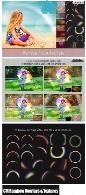 کلیپ آرت و تکسچر رنگین کمانCM Rainbow Overlays And Textures