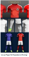 Soccer Player Kit Presentation PSD Mockup Template