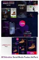 پکیج افترافکت ساخت تیزر تبلیغاتی محصولات در شبکه های اجتماعی به همراه آموزش ویدئویی از ویدئوهایوVideohive Social Media Product Ad Pack AE Templates