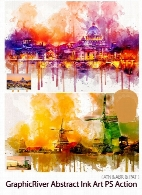 GraphicRiver Abstract Ink Art Photoshop Action