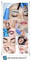 تصاویر با کیفیت مراقبت و آبرسانی پوست، تتوی ابرو، کاشت مژه و تزریق بوتاکسCosmetic Skin Care And Spa Treatments