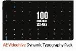 پروژه آماده افترافکت 100 متن و عنوان متحرک تایپوگرافی از ویدئوهایوVideohive Dynamic Typography Pack After Effects Templates