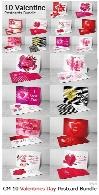 10 کارت پستال لایه باز ولنتاینCM 10 Valentines Day Postcard Bundle