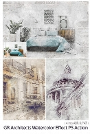 GraphicRiver Architects Watercolor Effect Photoshop Action