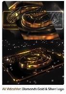 پروژه آماده افترافکت نمایش لوگو در قالب الماس طلایی و نقره ای به همراه آموزش ویدئویی از ویدئوهایوVideohive Diamonds Gold And Silver Logo After Effects Template