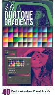 40 گرادینت دورنگی برای فتوشاپ40 Duotone Gradient Presets For Photoshop
