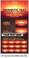 قالب لایه باز افکت متن دراماتیک با آتشCM Dramatic Text Effect With Fire