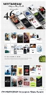 قالب لایه باز استوری اینستاگرامCreativeMarket MIXTAGRAM Instagram Story Bundle