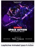 Graphicriver Animated Space Photoshop Action