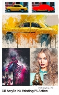 Graphicriver Acrylic Ink Painting Photoshop Action