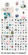 120 ماسک لایه باز برای تصاویر اینستاگرامCM 120 Vector Masks For Instagram
