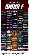 مجموعه استایل فتوشاپ با افکت های متنوع از گرافیک ریورGraphicRiver Super Styles Bundle