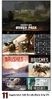 11 Awesome Art Brush Pack For Photoshop