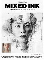 GraphicRiver Mixed Ink Sketch Photoshop Action