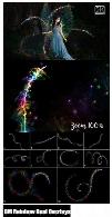 تصاویر کلیپ آرت تزئینی خطوط ذرات رنگین کمان با کیفیت 5KCM 5K Rainbow Pixie Dust Overlays
