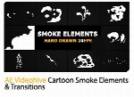 Videohive Cartoon Smoke Elements And Transitions After Effects Template