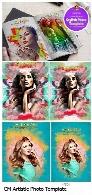 قالب لایه باز ساخت تصاویر هنری با افکت نقاشیCM Artistic Photo Template