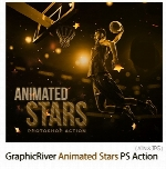 GraphicRiver Animated Stars Photoshop Action