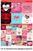 GraphicRiver 30 Valentines Day Instagram Promotion Banners