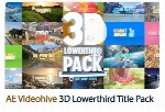 تایتل سه بعدی متحرک افترافکت به همراه آموزش ویدئویی از ویدئوهایوVideohive 3D Lowerthird Title Pack After Effects Template