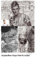 GraphicRiver Paper Print Photoshop Action