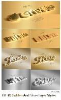استایل طراحی نوشته طلایی و سیلور سه بعدی از گرافیک ریورGraphicRiver 3D Golden And Silver Layer Styles