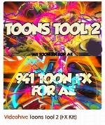 کیت جلوه های ویژه دو بعدی برای موشن گرافیک از ویدئوهایوVideohive Toons Tool 2 (FX Kit)