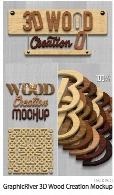 استایل طراحی متن چوبی سه بعدی از گرافیک ریورGraphicRiver 3D Wood Creation Mockup
