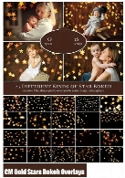CM Gold Stars Bokeh Photo Overlays