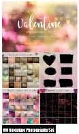 مجموعه تصاویر کلیپ آرت عناصر تزئینی بوکه، ماسک و تکسچر ولنتاین برای فتوگرافیCM Valentine Photography Set