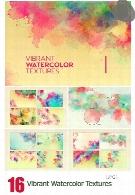 16 تکسچر با کیفیت آبرنگیVibrant Watercolor Textures