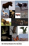 3D Animal Models For 3ds Max