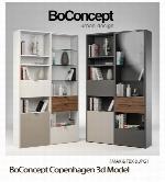 مدل های آماده سه بعدی قفسه کتابBoConcept Copenhagen 3d Model