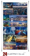 تصاویر با کیفیت شهرهای زیبای جهان در شب، دبی، هونگ کونگ و شانگهایBeautiful Night Shanghai HongKong And Dubai