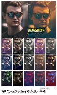 GraphicRiver Color Grading Photoshop Action V.01