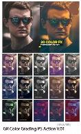 اکشن فتوشاپ ایجاد افکت گرادیان های رنگی بر روی تصاویر از گرافیک ریورGraphicRiver Color Grading Photoshop Action V.01
