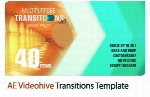 40 ترانزیشن متنوع برای افترافکت به همراه آموزش ویدئویی از ویدئوهایوVideohive Transitions After Effects Template