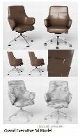مدل های آماده سه بعدی صندلی های چرخ دار و ساده اداریGrand Executive 3d Model