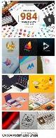 984 تصویر لایه باز و وکتور اشکال مدرن متنوع برای طراحی لوگوCM 984 Modern Logo Shape