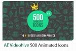 500 آیکون متحرک افترافکت از ویدئوهایوVideohive 500 Animated Icons After Effects Template