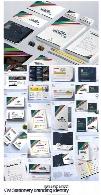 مجموعه تصاویر لایه باز و وکتور ست اداری، کارت ویزیت، بروشور، کیف دستی و ...CreativeMarket Stationery Mega Branding Identity