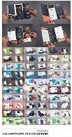 30 قالب لایه باز بروشورهای سه لت با موضوعات مختلفFold Bundle