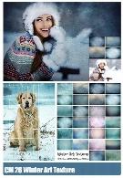 26 کلیپ آرت تکسچر زمستانیCreativeMarket 26 Winter Art Texture