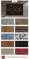 مجموعه تکسچر و پترن چوبی سه بعدی برای فتوشاپCM Seamless 3D Wood Patterns And Textures