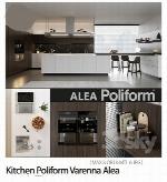 مدل سه بعدی وسایل آشپزخانه به همراه تکسچر، هود، اجاق گاز، سینک ظرفشویی، کابینت و ...Kitchen Poliform Varenna Alea (vray GGX corona PBR)