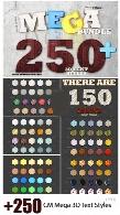 بیش از 250 افکت لایه باز سه بعدی متن با طرح های متنوعCM Mega Bundle 250+ 3D Text Styles